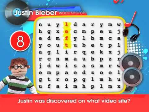 Justin Bieber Word Search