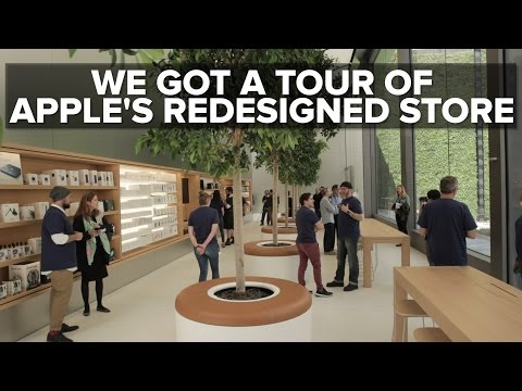Take a tour of Apple's redesigned flagship store concept