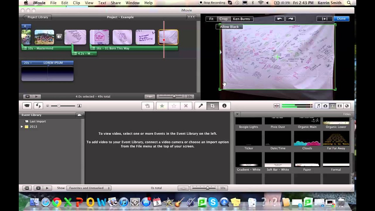 how to add images to imovie project
