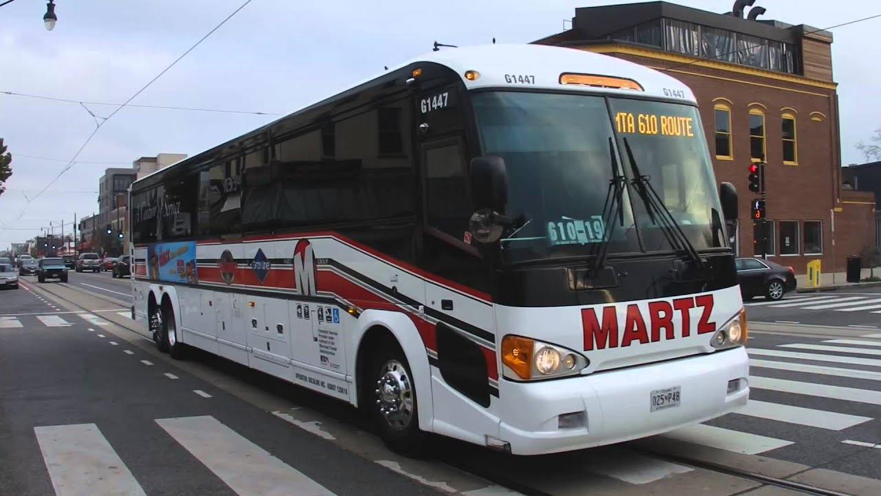 MARTZ 2011 MCI D4505 61447 on MTA Maryland Route 610 @ H Street ...