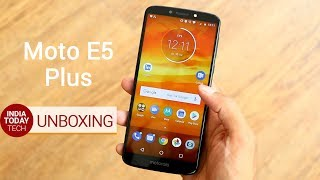 Moto E5 Plus unboxing and first look