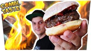 WAGYU-PFANNKUCHEN-BURGER & fast die Kochschule abfackeln... 🔥🍔🔥 Combi & Taste #CaT