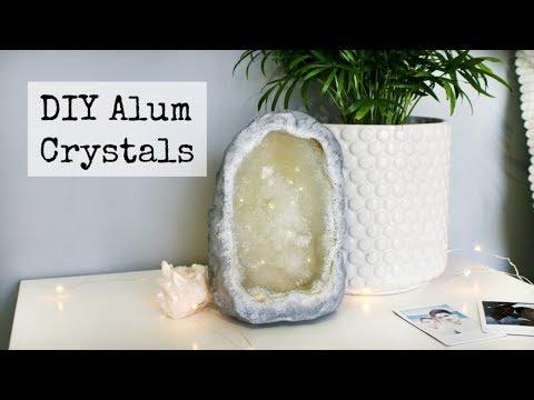 Diy Faux Alum Crystal Geode Tumblr Decor