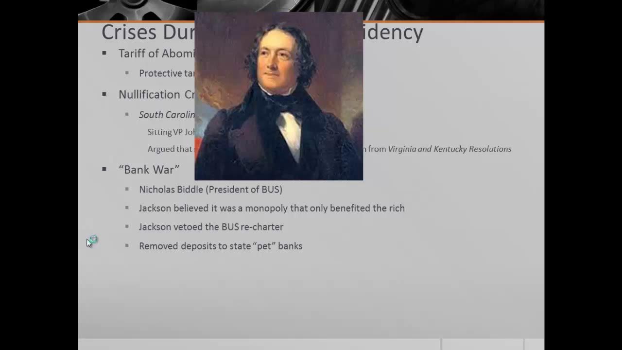 APUSH Review The Presidency of Andrew Jackson YouTube – Andrew Jackson Worksheet