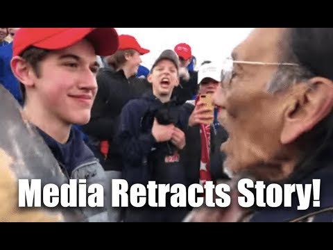 Mainstream Media & Celebrities Retract Story In MAGA Hat Native American Full Video! Wow...