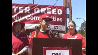 CNA/NNU Sutter Alta Bates Nurses 9th Strike As  NNU National Leaders Join Support Rally