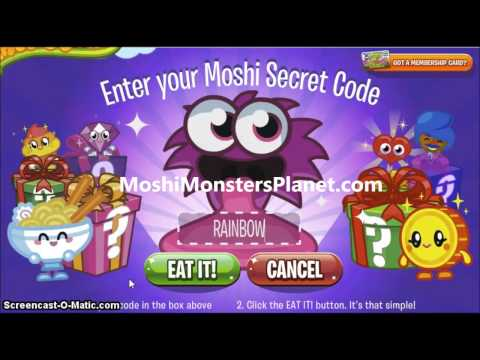 Moshi Monsters Secret Codes for 10000 Rox 2013