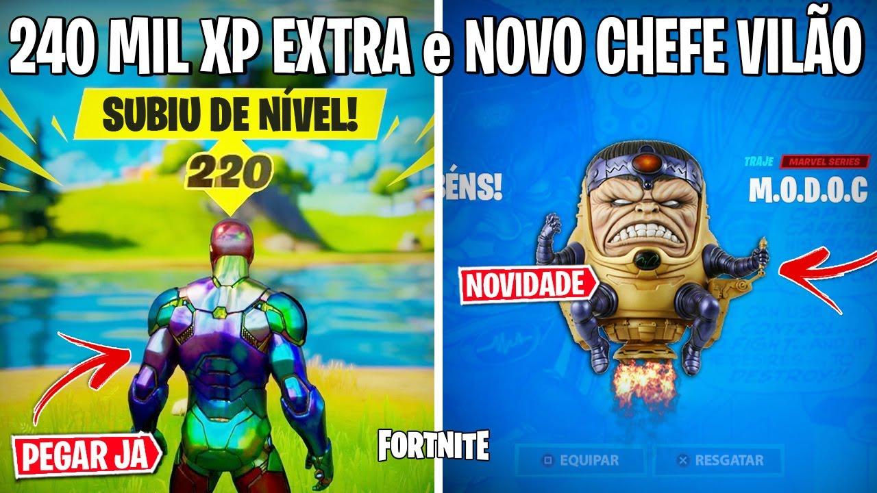 FORTNITE - TEMA DA TEMPORADA 5, NOVO VILÃO MARVEL e PEGAR XP EXTRA