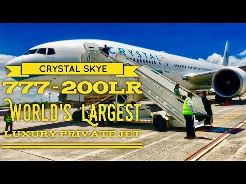 2018 Crystal Skye Boeing 777-200LR World's Largest Luxury Private Jet Tour