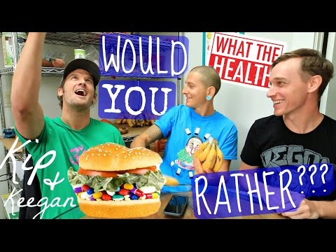VEGAN WOULD YOU RATHER?😂 Kip & Keegan of Cowspiracy🐮/What The Health💊