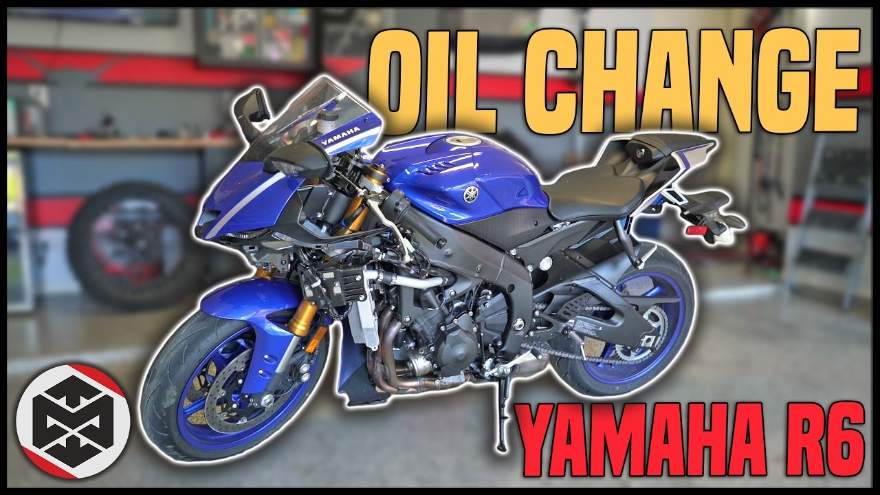 HOW TO: Oil Change on a Yamaha R6 (2017-Current)