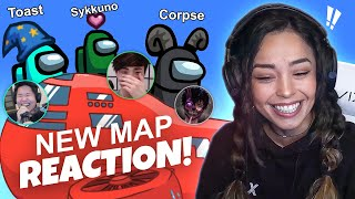 CHAOS on NEW AIRSHIP AMONG US MAP! Ft. JackSepticEye, Bretman Rock, Amigops & more