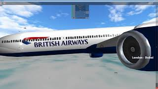 Place With Airliners [Roblox] London - Dubai British Airways B777- 300ER [FULL FLIGHT!!]