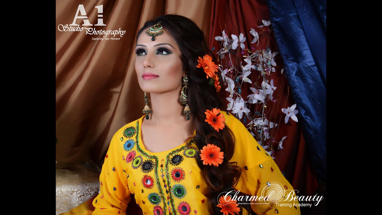 Mehndi Makeup Looks : Mehndi makeup look by farzana ahmed academy youtube