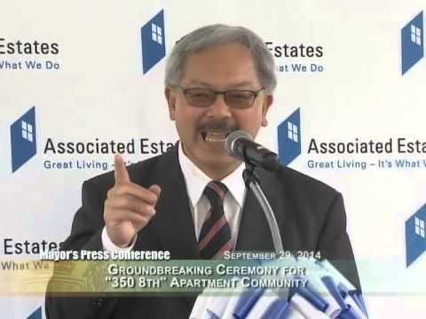 Mayor Lee at 350 8th Street Project Groundbreaking