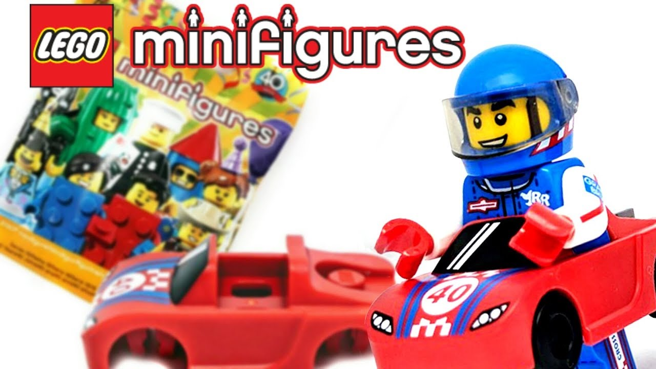 71021 Lego Serie 18 Sammelfigur Party Race Car Guy