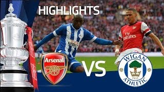 ARSENAL VS WIGAN ATHLETIC 1-1 ARSENAL WIN ON PENALTIES Goals and highlights FA Cup Semi Final
