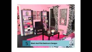 Vintage Design Pink Black And White Teens Room