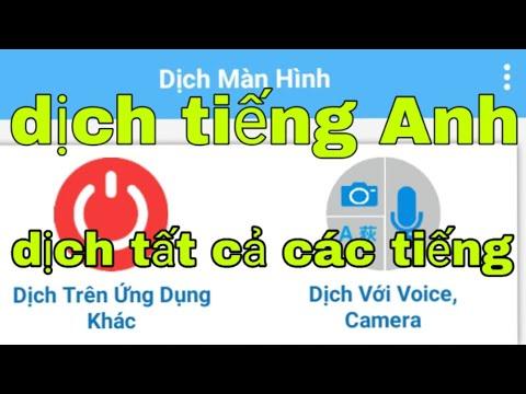 Cách tải ứng dụng dịch tiếng Anh sang tiếng Việt trên điện thoại với một quả bóng(Translate English)