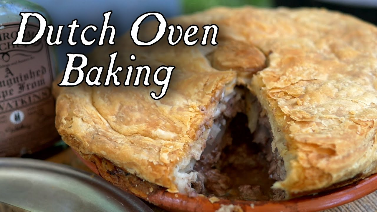 1796 Beef Steak Pie - Dutch Oven Baking - YouTube