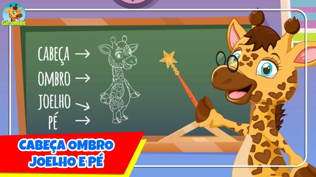Cabeça, Ombro, Joelho e Pé - Giramille   Desenho Animado Musical