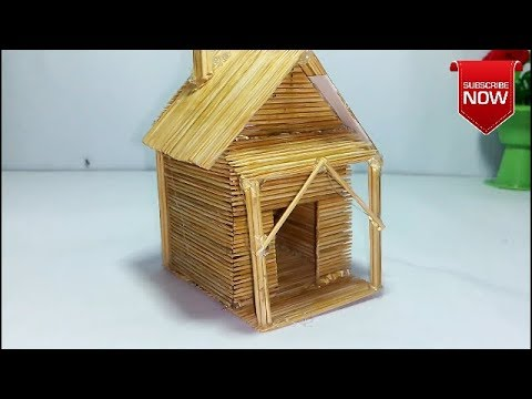 Toothpick Stick House Craft Ideas | Outdoor Ideas