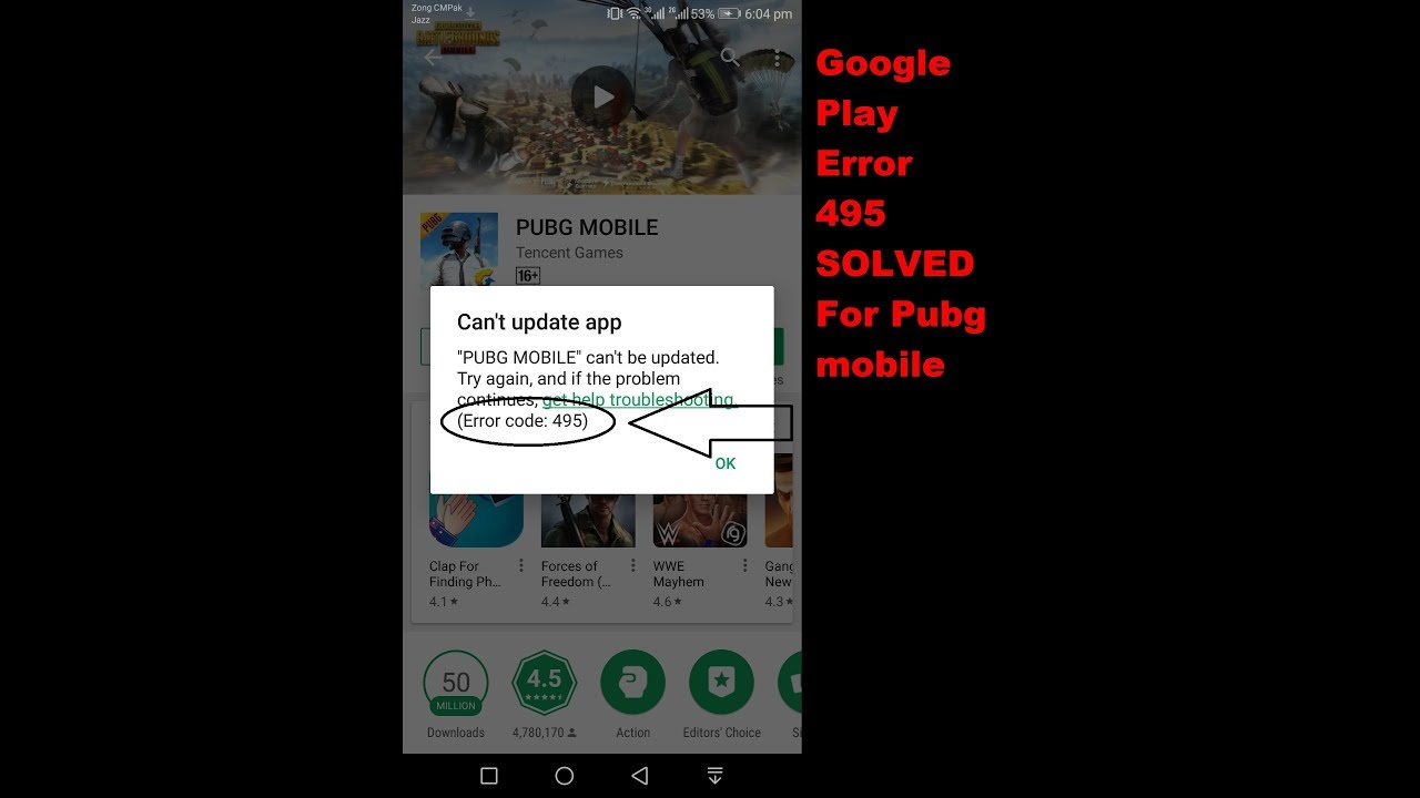 Error 495 on Google Play SOLVED For PUBG Mobile and GIVEAWAY