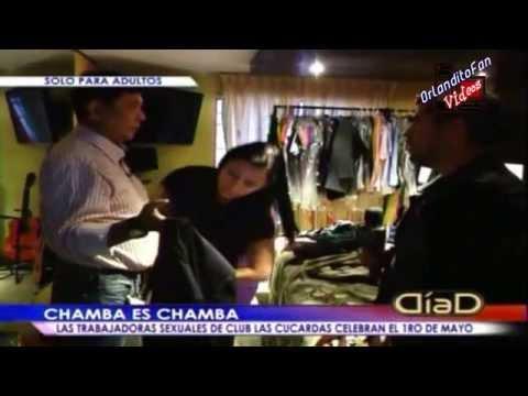 Las Trabajadoras sexuales de club  Las Cucardas celebran el 1ro de Mayo