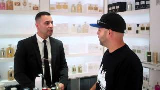 STREET SCENTS at The CREED Boutique NYC Creed Travel Atomizers/Ambergris/VIW with Rodney
