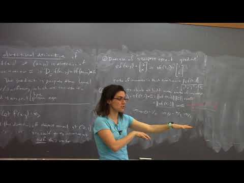 Multivariable calculus, class #11: directional derivative, g