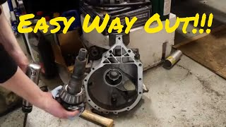DIY - How to remove a stuck pinion gear from an axle case
