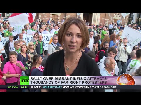 'Stop Invasion!' Thousands protest at anti-immigration rally in Italy