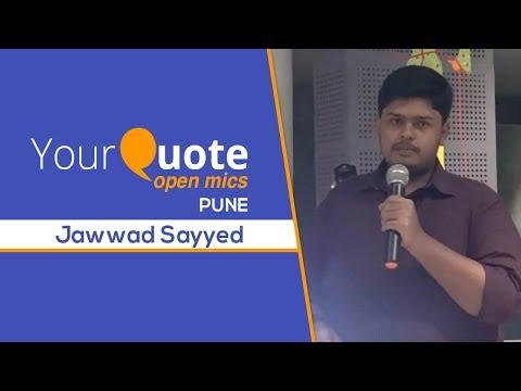 'Sawaalat O Aitraaz' by Jawwad Sayyed | Urdu Poetry | YQ - Pune (Open Mic 3)