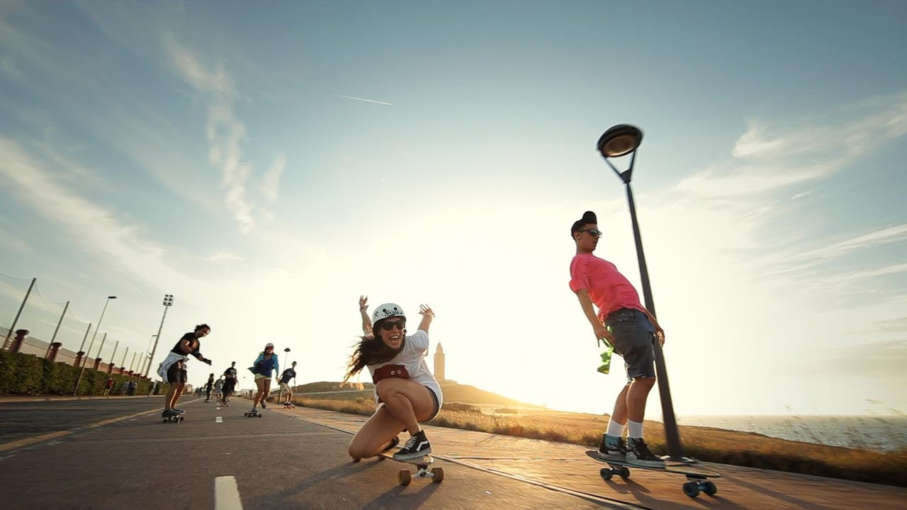 Endless Roads 4 Costa Da Morte With Longboard Girls