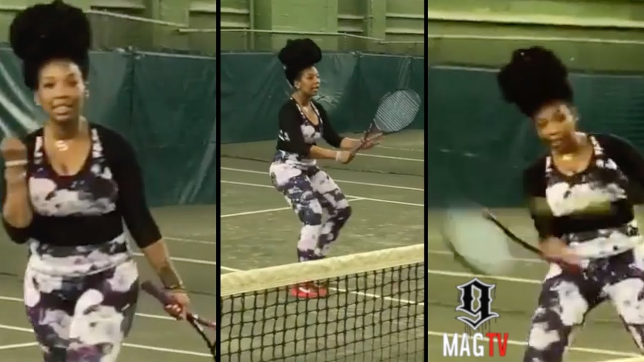 Brandy Late Night Practicing ???? To Play Against Serena (2018)