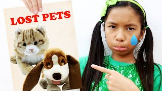 Download Lagu Wendy Pretend Play Looking for Lost Pets | Cats and Dog Pets for Kids mp3