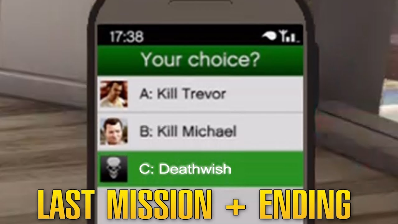 Grand Theft Auto 5 / GTA 5 - Final Mission: The Third Way + Ending C  [Deathwish]