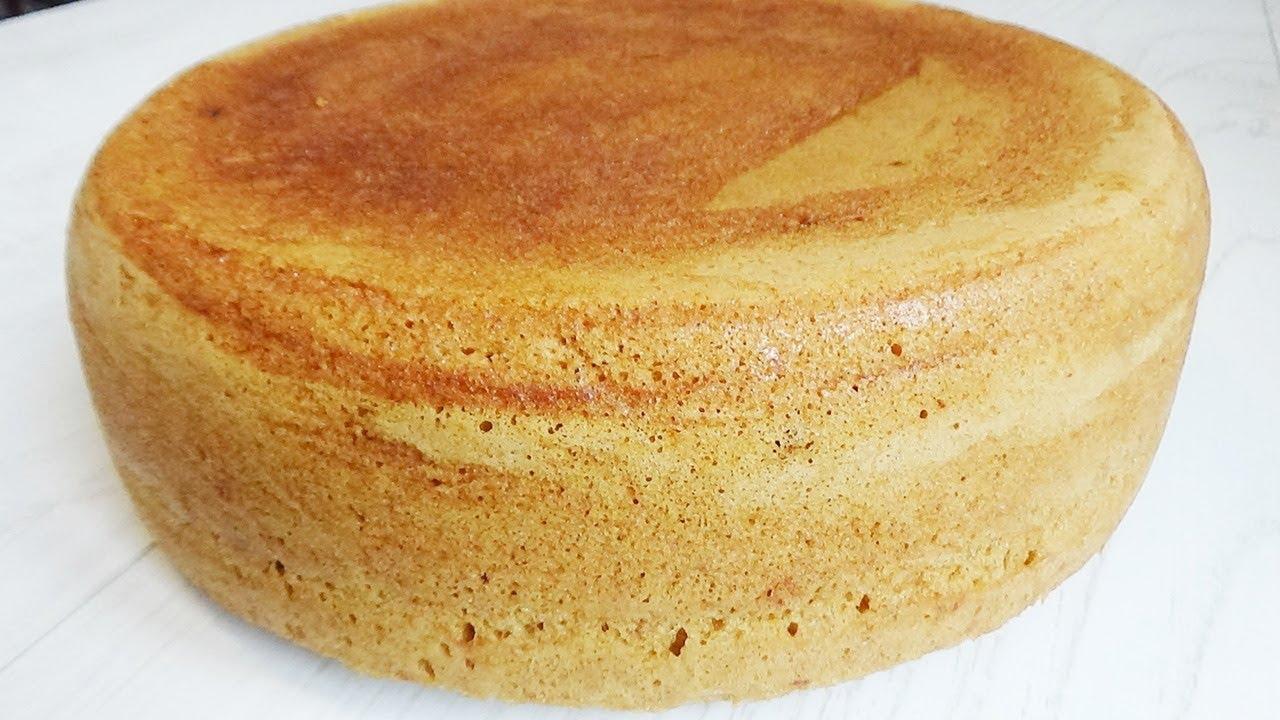 как испечь бисквит без горки