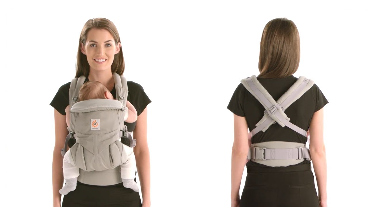 Ergobaby Omni 360 Cool Air 4 Position Newborn To Toddler Baby Carrier Oxford Blue