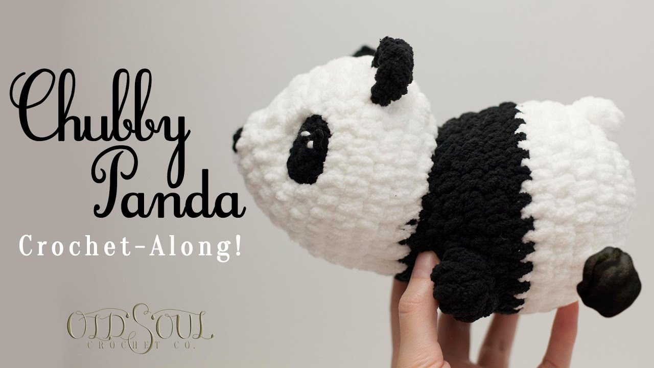 Chubby Panda Crochet-Along! (Because the Corona Virus has us quarantined anyway...)