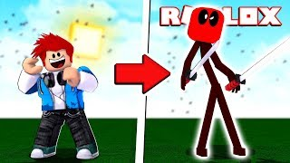 COMO VIRAR O DEADPOOL STICKMAN MALVADO NO ROBLOX - Animation vs. League of Legends