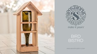 DIY Bird Feeder | Wood Craft | Apostrophe S | Bird Bistro [Insert Transcription] For the best DIY crafts that are both fun and easy, ...