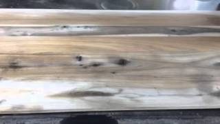 Time Lapse: Diy Hickory Headboard With Reclamation Stain