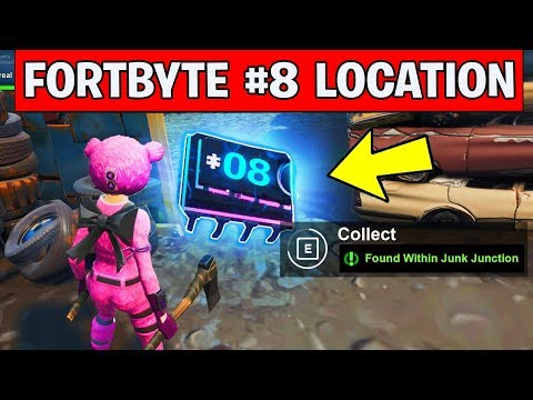 Fortnite Fortbyte 8 Location - Found Within Junk Junction (FORTBYTE FORTNITE CHALLENGES #08)