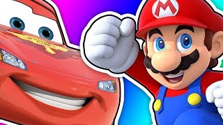PLAYING MARIO GAMES IN ROBLOX and SAVING LIGHTNING MCQUEEN
