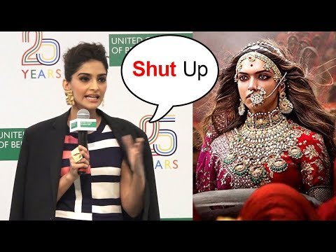 ANGRY Sonam Kapoor FIGHTS With Reporter Saying She Jealous Of Deepika Padukone's Padmavati Success