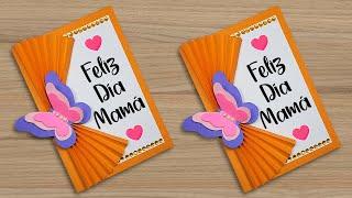 🌼 Hermosa tarjeta para el día de la madre 🦋 Mother's Day Card Handmade Easy Especial día de la madre