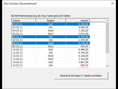 218: Excel-VBA: Die bessere ListBox? Das Listview-Element mit super Eigenschaften