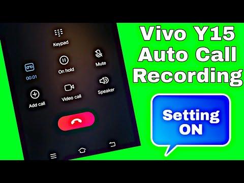 Vivo Y15 Auto Call Recording | Automatically Recording