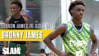 LeBron James Jr. goes OFF in George Hill Invitational: Bronny James Highlights